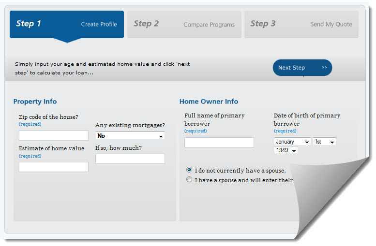 Screenshot of https://reverse.mortgage/calculator