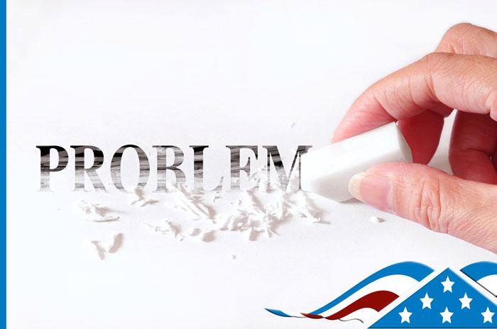 problem word being erased