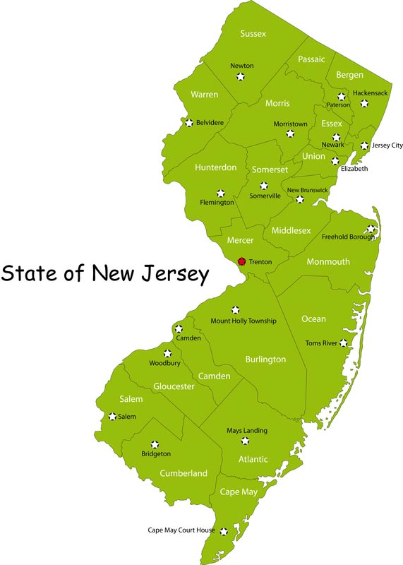 Perfect State Of New Jersey Map Swimnovacom - Map of the state of new jersey