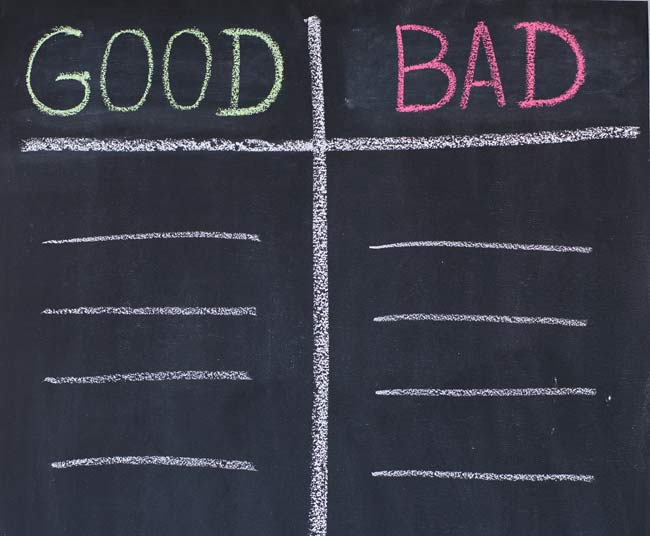 good vs bad sign