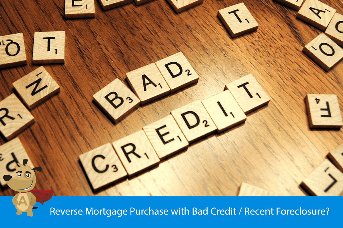 Reverse Mortgage Purchase with Bad Credit / Recent Foreclosure?