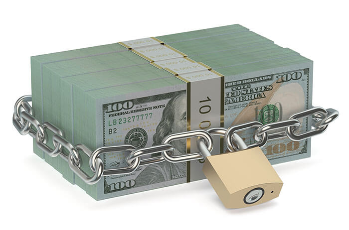 locked out money/funds