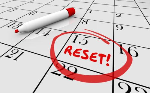 Reset Calendar Day Date