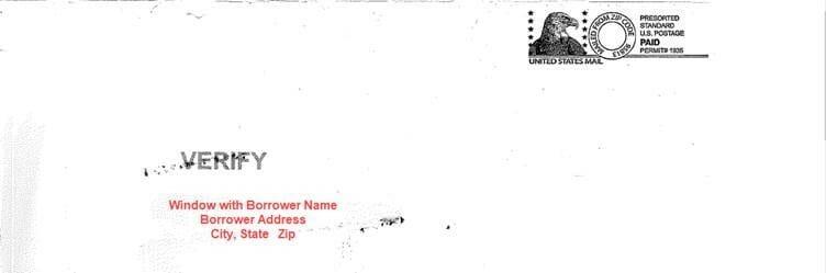 reverse mortgage mailing envelope
