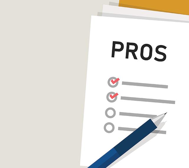 list of pros