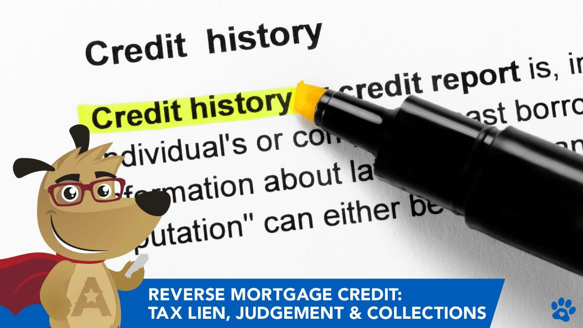 Reverse Mortgage Credit: Tax Lien, Judgement & Collections