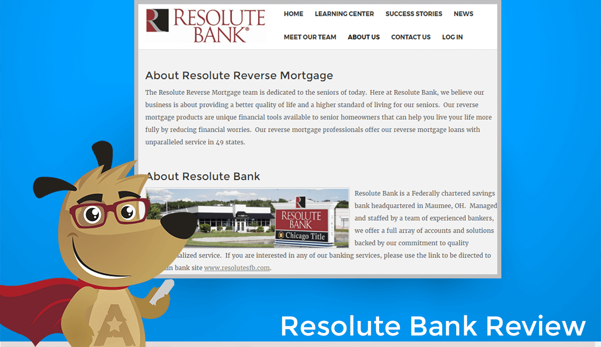 Resolute Bank Reverse Mortgage Website